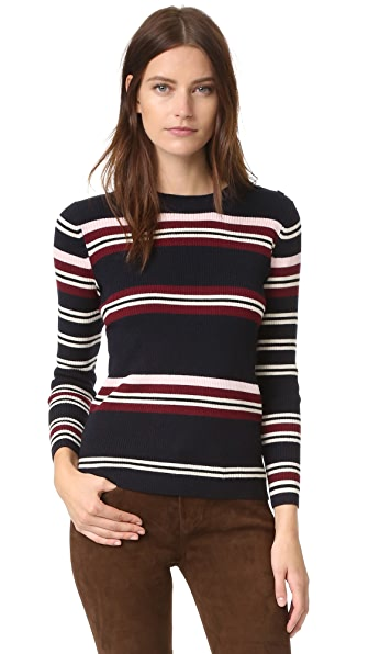 Chinti and Parker Rib Striped Sweater