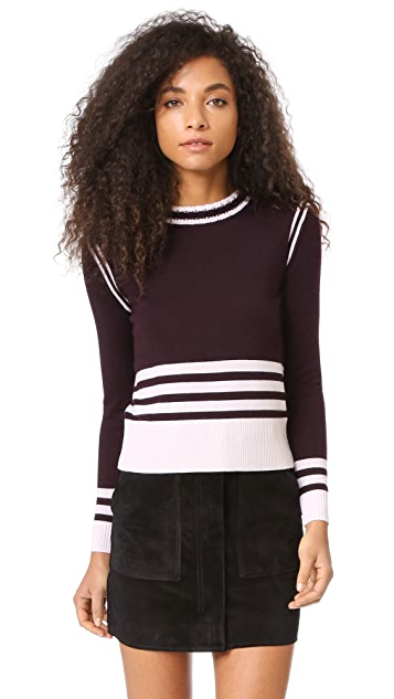 Chinti and Parker Sporty Stripe Sweater
