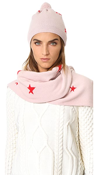 Chinti And Parker Star Hat - Powder Pink/Orange at Shopbop