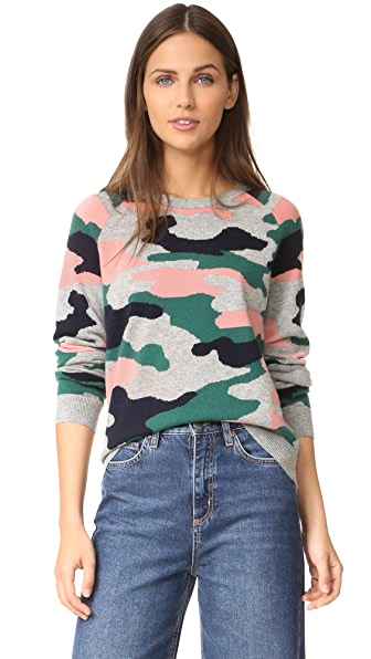 Chinti and Parker Camo Intarsia Sweater