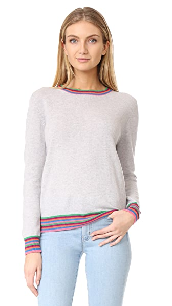 Chinti and Parker Stripe Cuff Cashmere Sweater