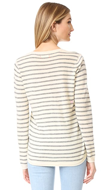 Chinti and Parker Breton Heart Cashmere Sweater