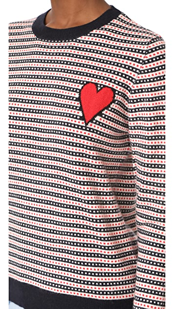Chinti and Parker Heart Sweater