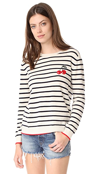 Chinti and Parker Cherry Breton Sweater