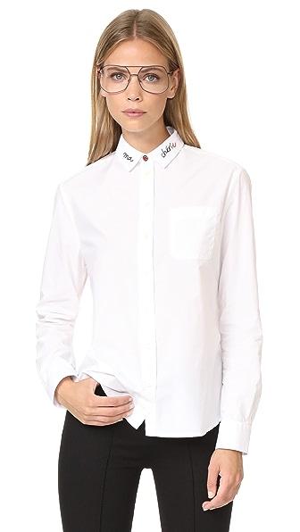 Chinti and Parker Chinti Boyfriend Shirt - White