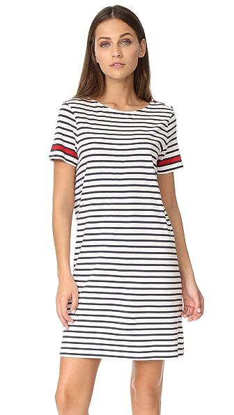 Chinti and Parker Cherry Breton Dress - Ivory/Navy