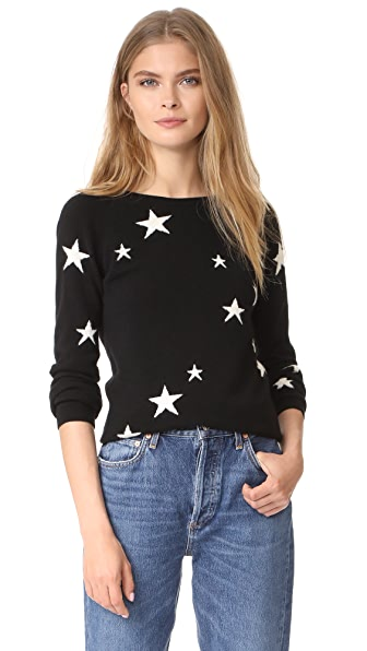Chinti and Parker Cashmere Star Sweater - Black/Cream