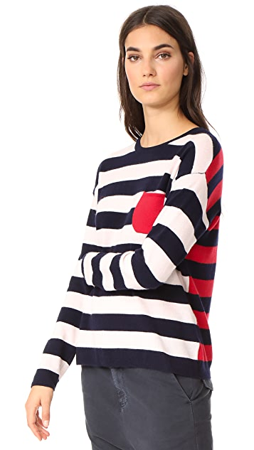 Chinti and Parker Stripe Heart Sweater