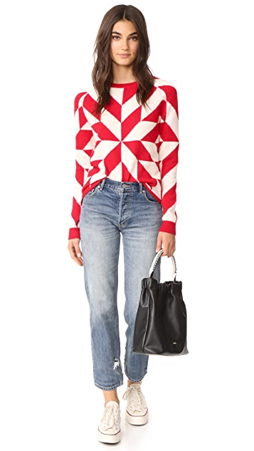 Chinti and Parker Graphic Snowflake Sweater