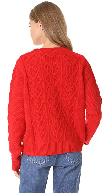 Chinti and Parker Heart Aran Sweater