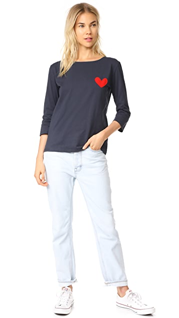 Chinti and Parker Velvet Heart Tee