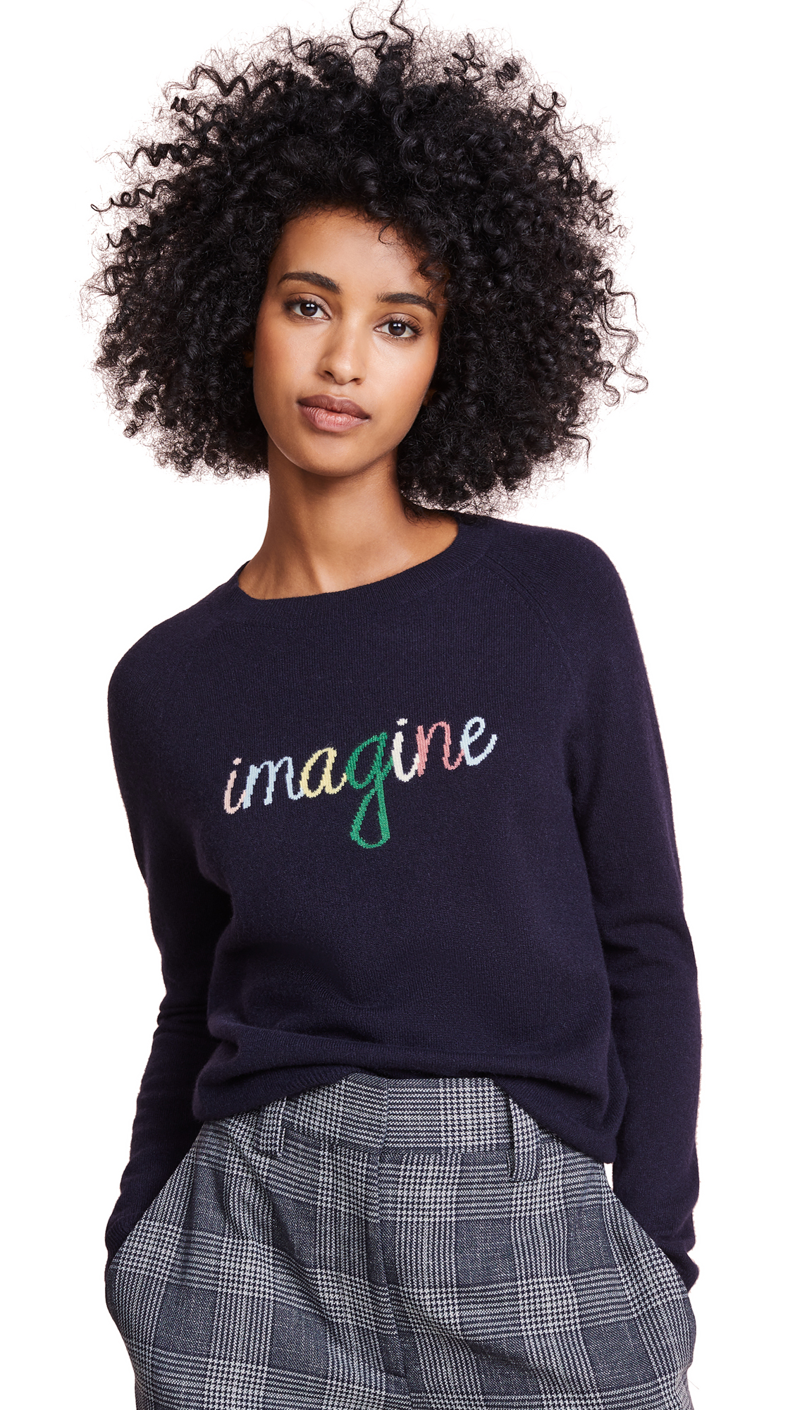 Chinti and Parker Cashmere Imagine Sweater In Navy/Multi
