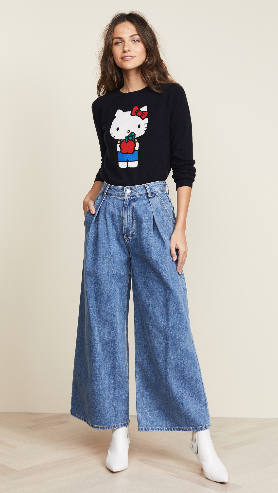 a53f90329 Chinti and Parker Hello Kitty Apples Cashmere Sweater | SHOPBOP