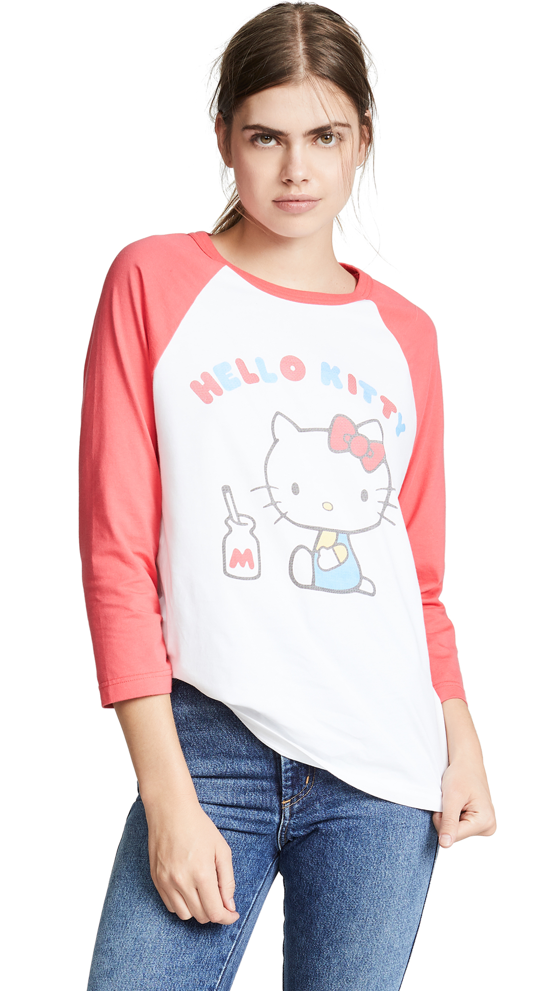 3768ac34f Chinti and Parker Hello Kitty Baseball Tee | SHOPBOP
