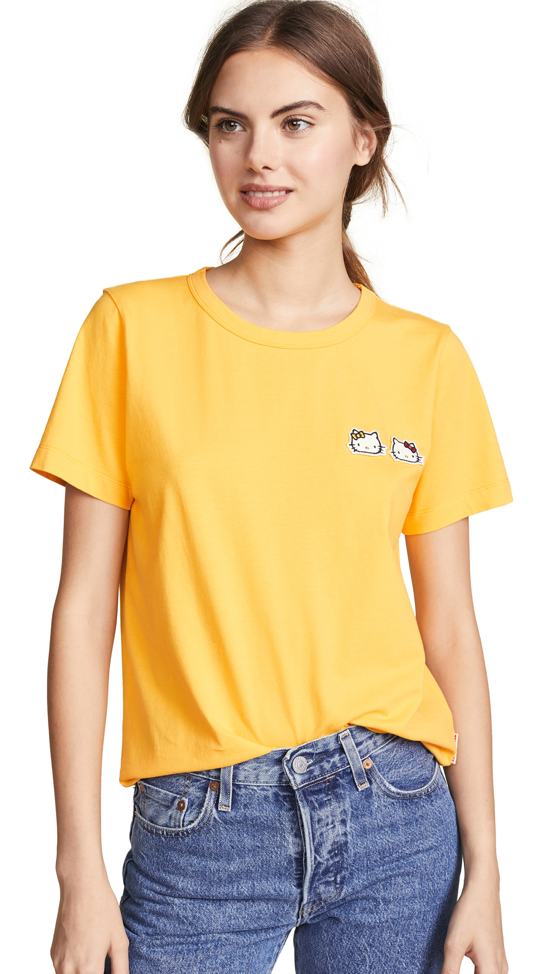 Chinti and Parker Hello Kitty Badge Tee - Yellow