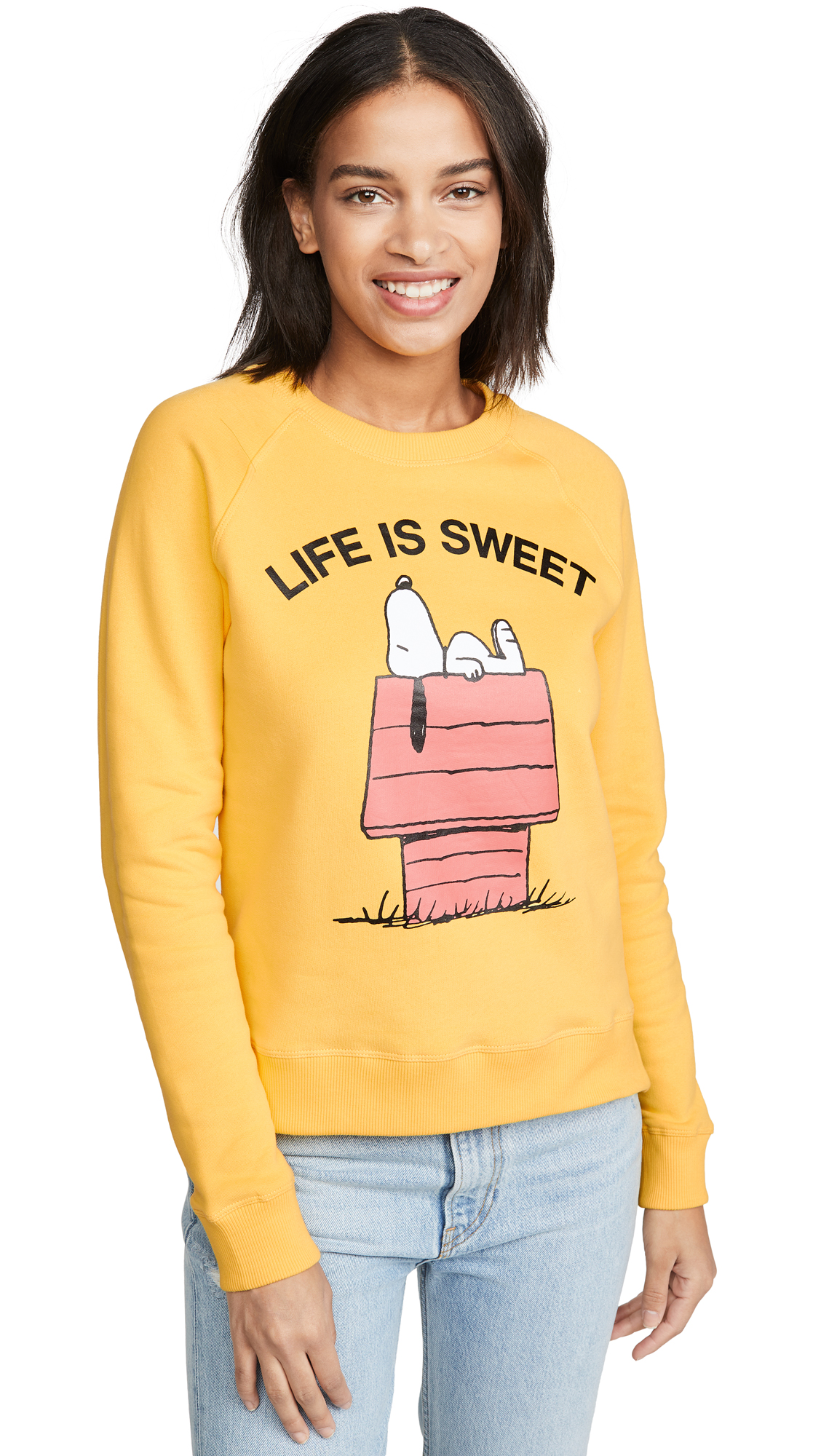 Chinti and Parker Life Is Sweet Sweatshirt - Yellow