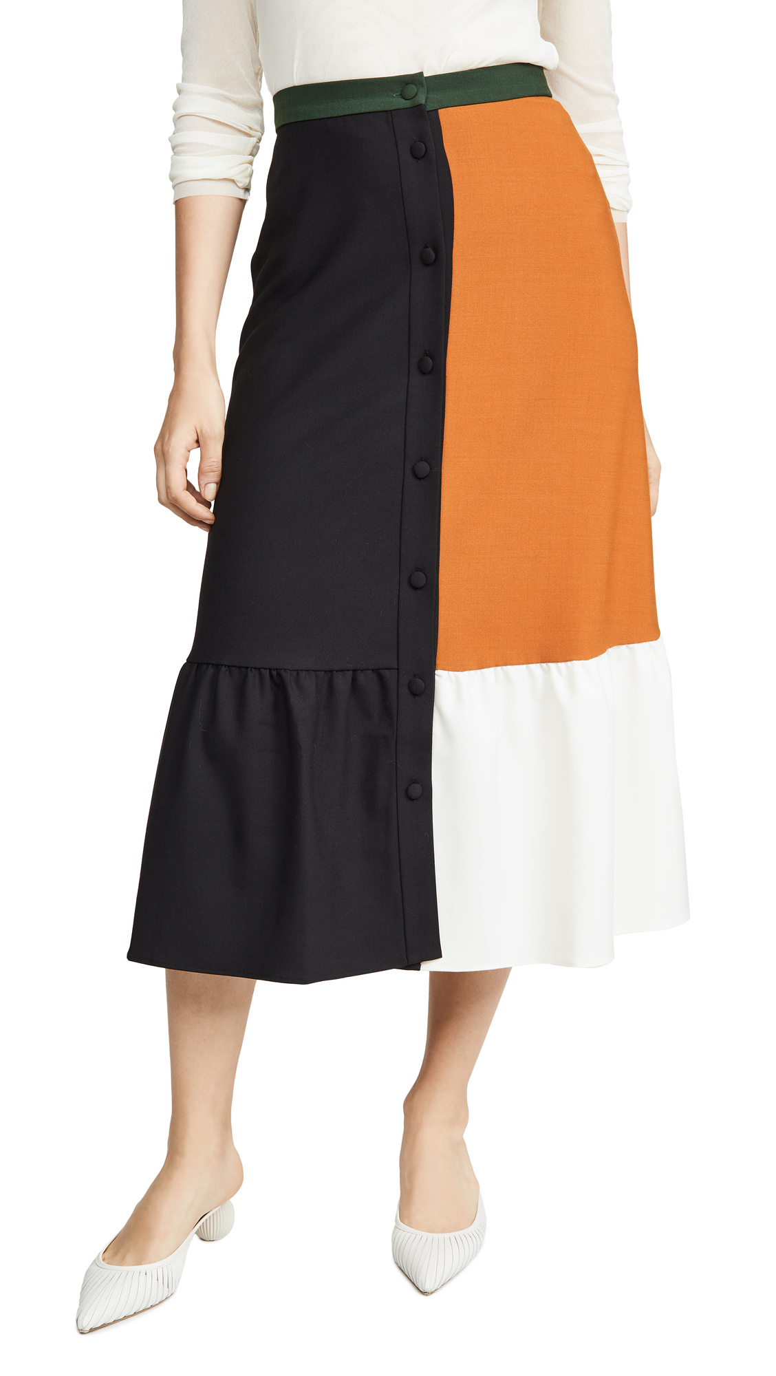 Buy Chinti and Parker online - photo of Chinti and Parker Colorblock Skirt