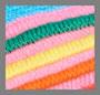 бирюзовый/разноцветный