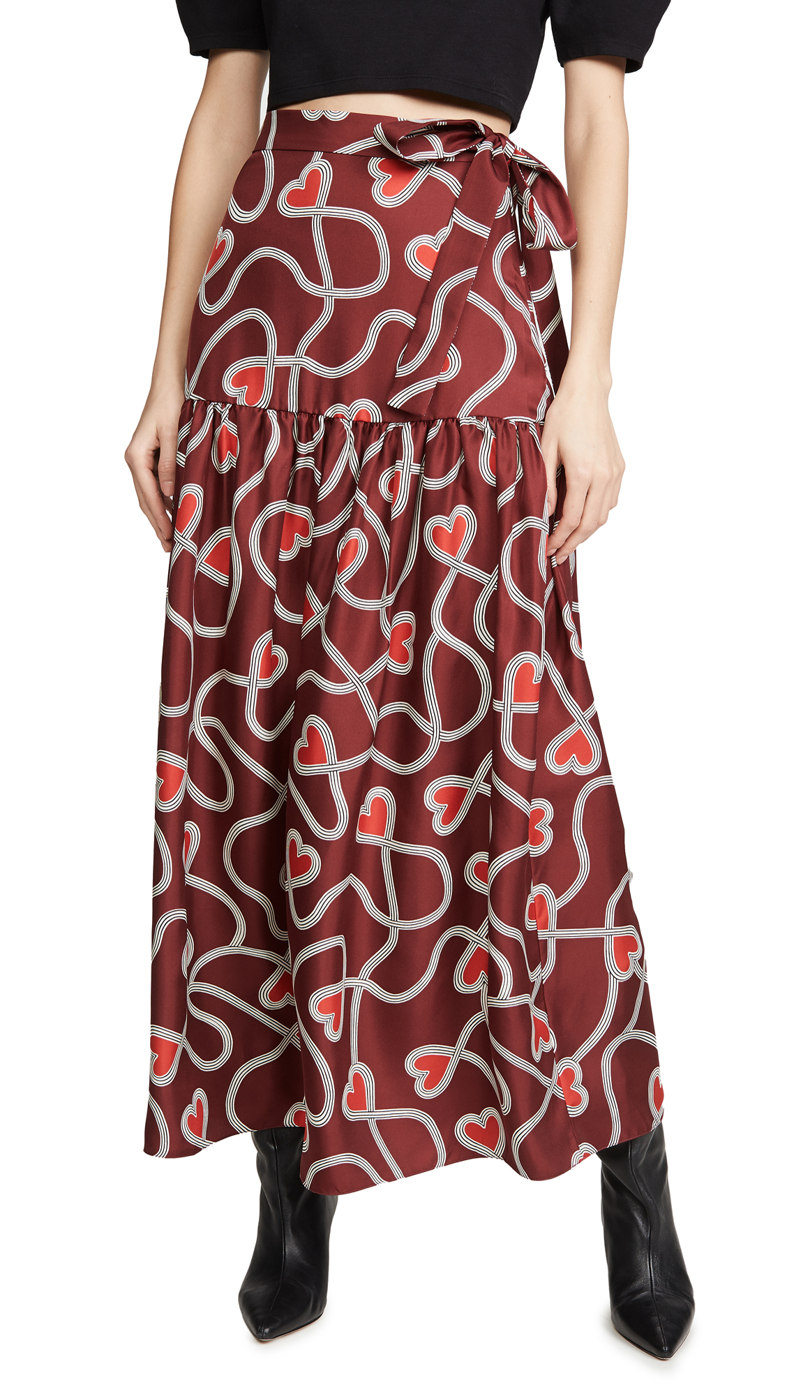 Buy Chinti and Parker online - photo of Chinti and Parker Anni Heart Skirt