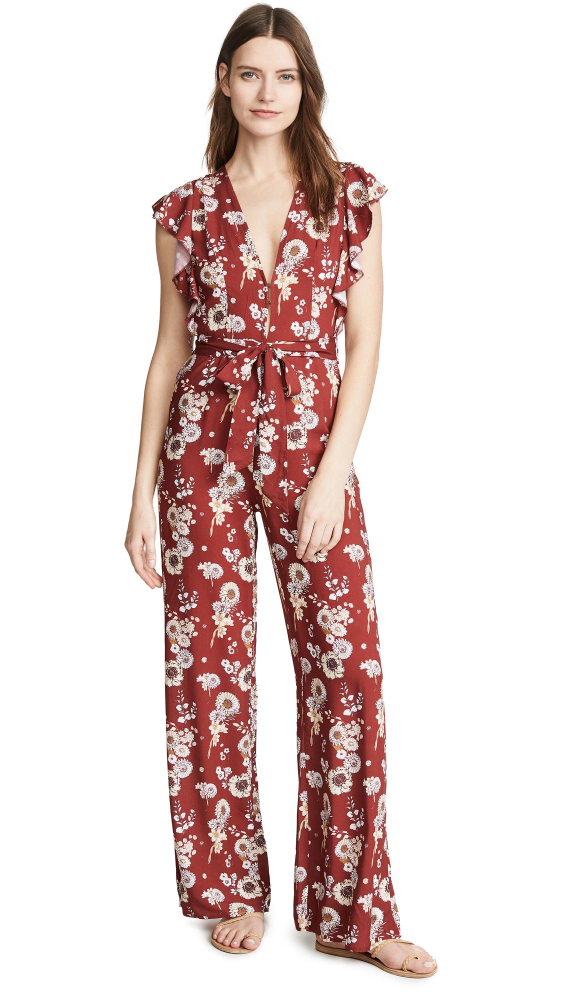 Charlie Holiday Avalon Jumpsuit - Burnt Floral