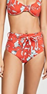 Charlie Holiday Mia Tie High Waisted Bikini Bottom