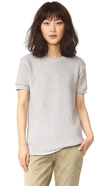 CHRLDR NOIR Short Sleeve Sweatshirt