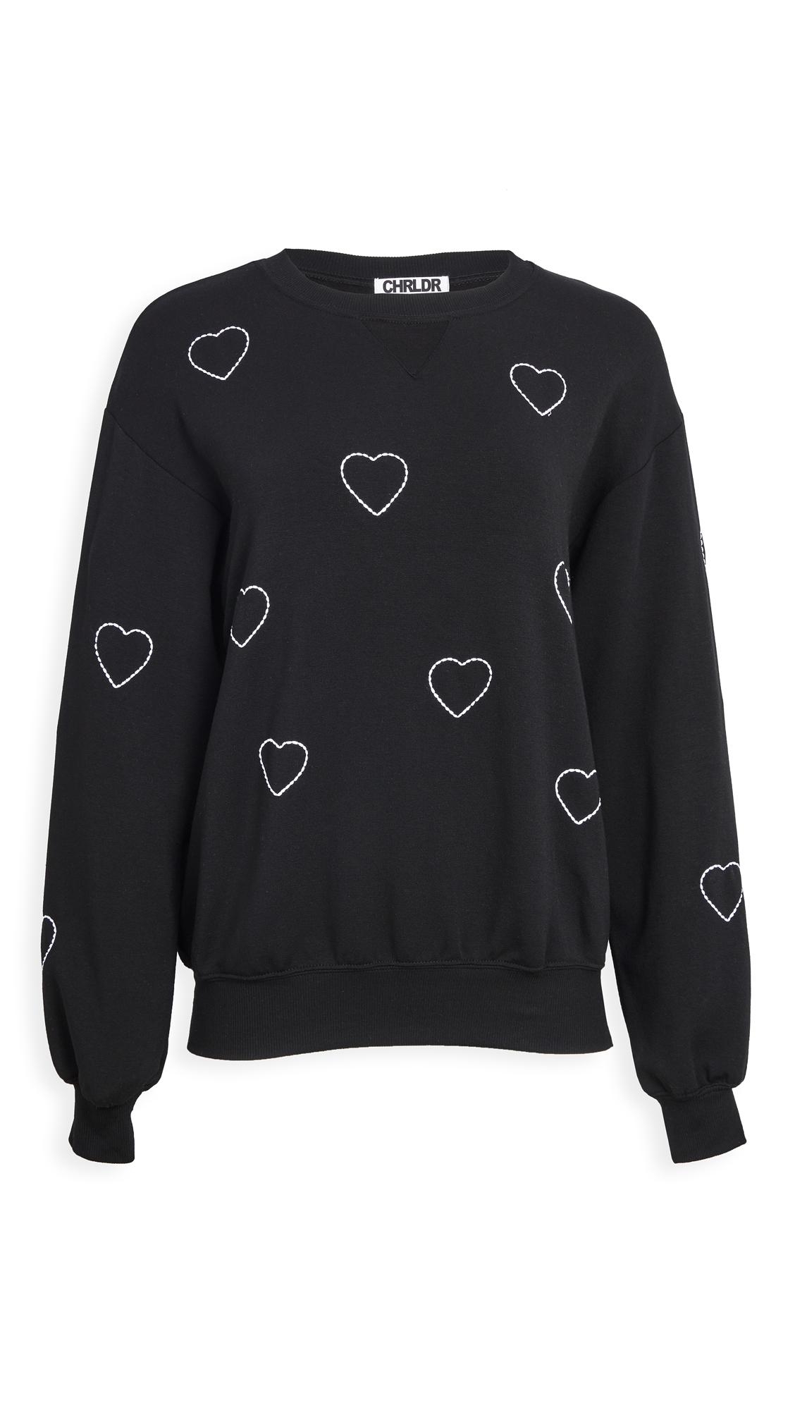 CHRLDR Stitched Heart Sweatshirt