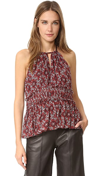 Cinq a Sept Cassis Lotus Top - Red Multi