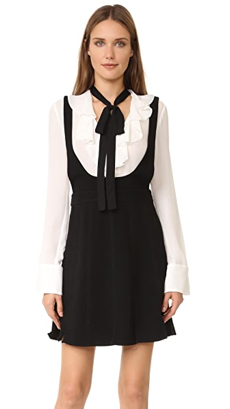 Cinq A Sept Antonia Jumper Dress - Black/Ivory