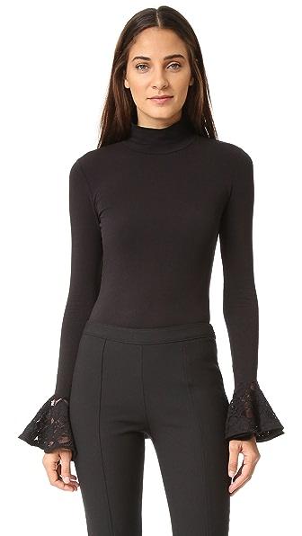 Cinq a Sept Estrella Thong Bodysuit - Black