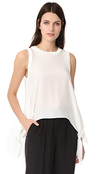 Cinq a Sept Yvonne Handkerchief Top In Ivory