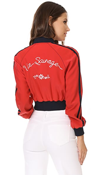 Cinq a Sept Embroidered Emerson Bomber Jacket