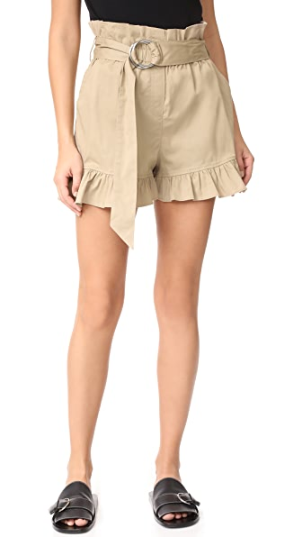 Cinq a Sept Braxton Shorts In Khaki