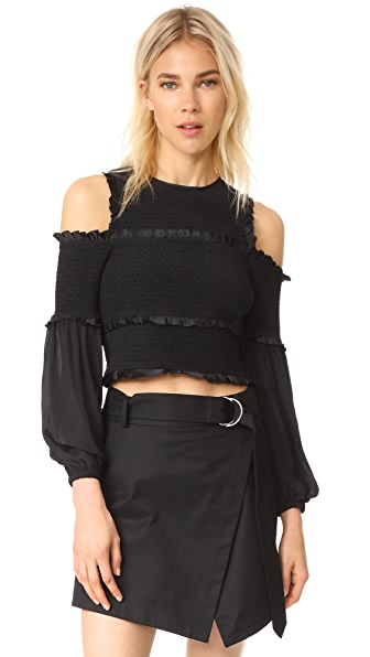 Cinq a Sept Pascal Top In Black