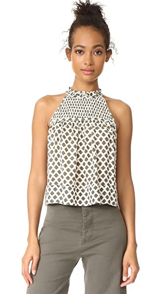 Cinq a Sept Medallion Loki Top In Ivory Multi