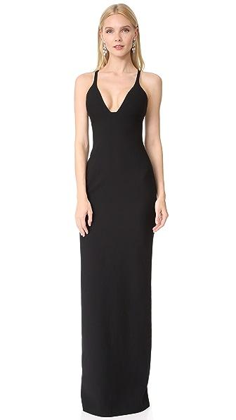 Cinq a Sept Ara Gown In Black