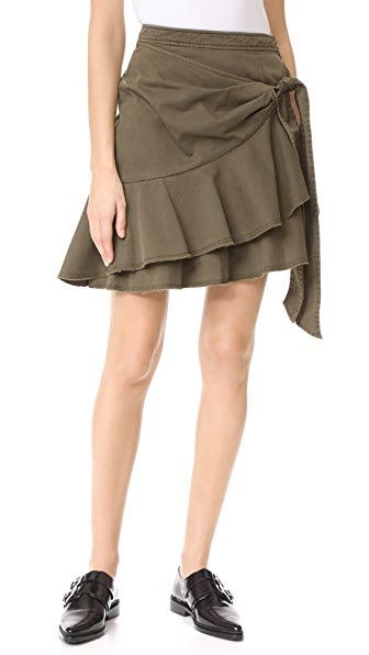 Cinq a Sept Anson Skirt In Olive