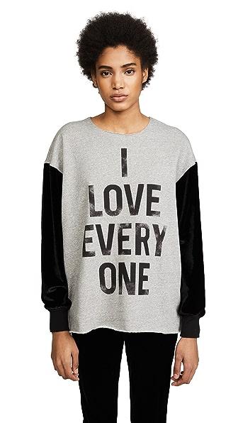 Cinq a Sept I Love Everyone Sweatshirt In Grey