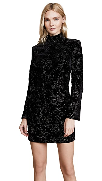 Cinq a Sept Winslow Dress In Black/Pewter