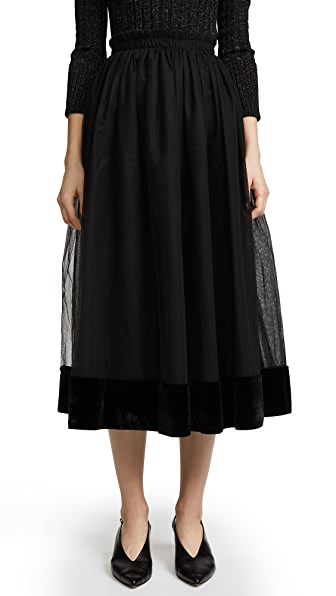 Cinq a Sept Genesse Skirt In Black