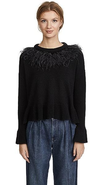 Cinq a Sept Emira Pullover In Black/Black