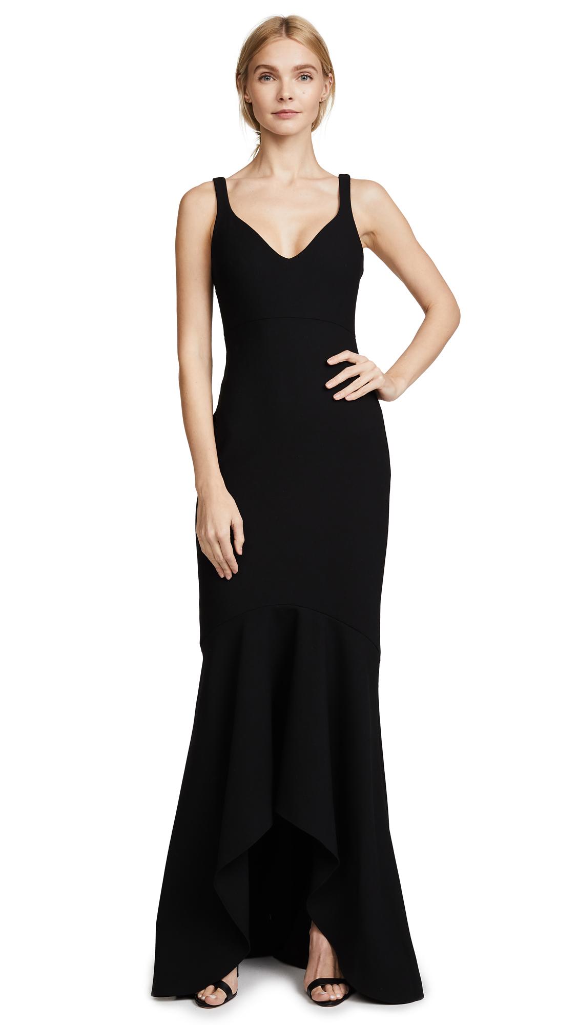 Cinq a Sept Sade Gown - Black