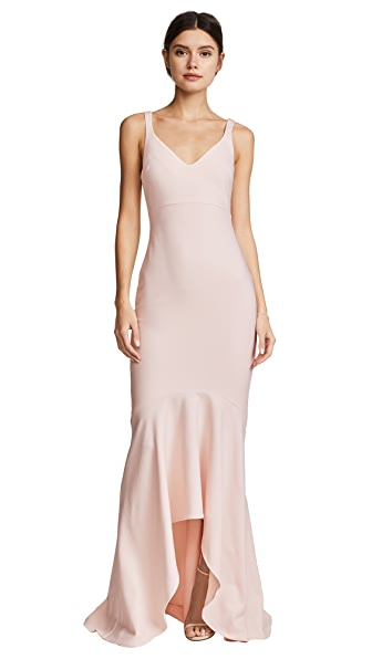 Cinq a Sept Sade Gown In Cinq Pink