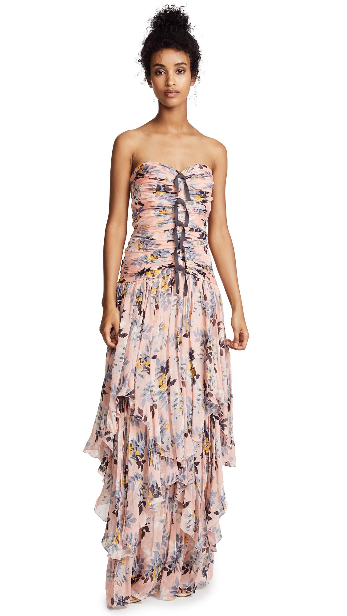 Cinq a Sept Emira Dress In Peach Bud Multi