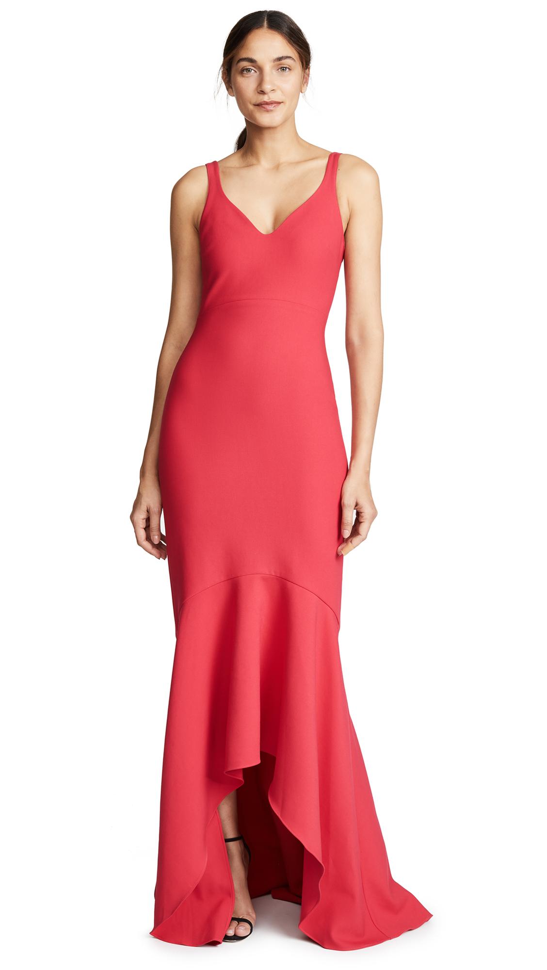 Cinq à Sept Sade Gown In Camilla Red Modesens