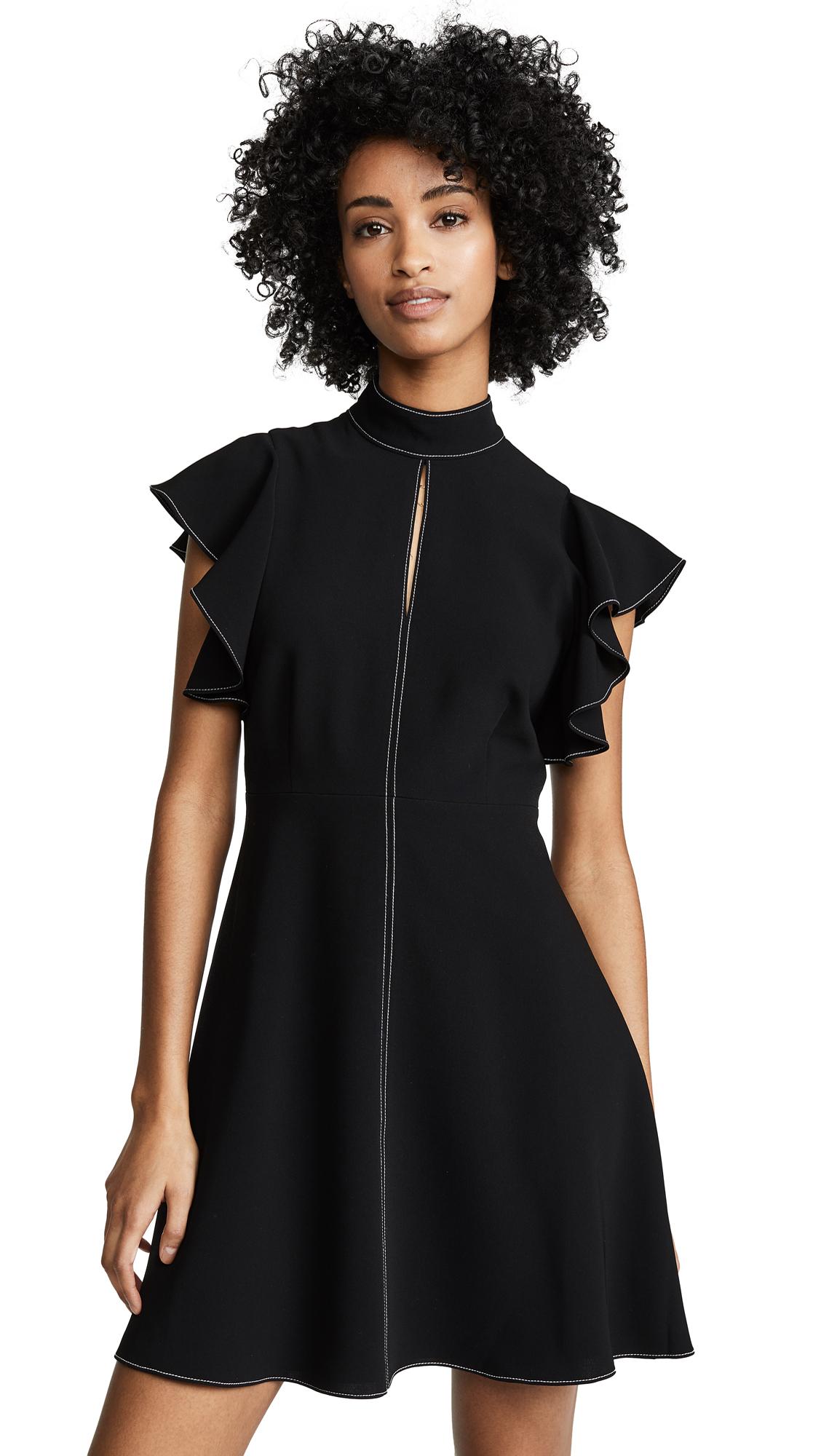 Cinq a Sept Topstitch Reiko Dress - Black/Ivory