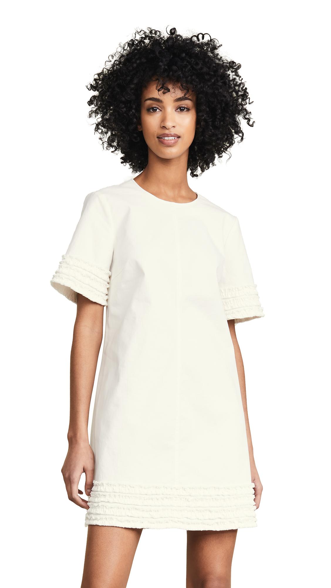 Cinq a Sept Tous Les Jours Miliitary Twill Ashton Dress - Ivory