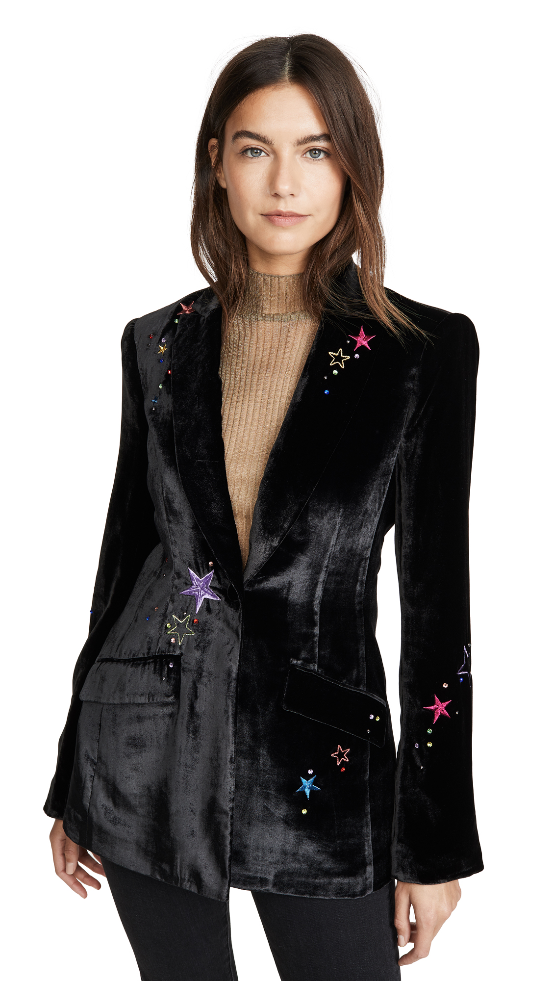 Buy Cinq a Sept online - photo of Cinq a Sept Velvet Starlight Estelle Blazer