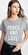 Cinq a Sept Tous Les Jours Peace and Love T 恤