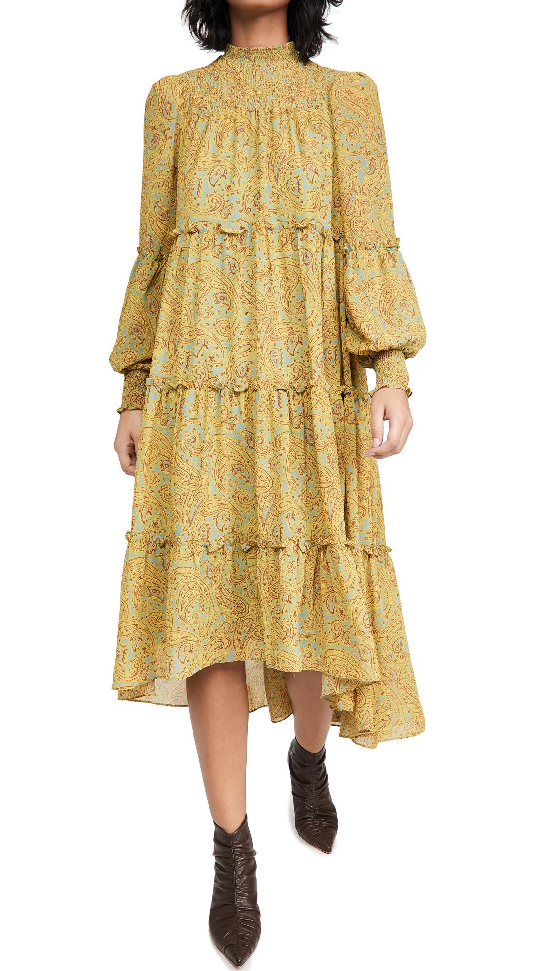 CINQ À SEPT HIGH LOW RIKA DRESS